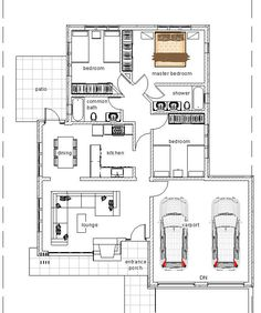 3 Bedroom Bungalow Plan Kenyan Architect  Fachadadas  Pinterest Captivating 3 Bedroom Bungalow Designs Design Ideas