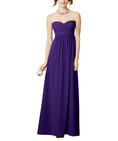Stylist NotesA simple dress with super flattering sweetheart neckline is guaranteed to be a favorite. Fits well if you're petite, pregnant or post-partum. The color blocking is also a great way to add multiple colors into your wedding party. -CarolynDescriptionAlfred Angelo Style 7289LFull length bridesmaid dressSweetheart neckline, crossover bodiceEmpirewaist, shirred a-line skirtChiffon7289L's bodice and skirt can be ordered in differing colors for a color block effect.LongThe Alfred…