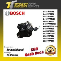 Mercedes Sprinter CDI 2.1 Reconditioned Bosch Fuel Pump - 0445010048 0445010078