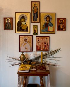 The Family Altar: Establishing a Place of Prayer Religious Icons, Religious Art, Home Altar Catholic, Prayer Corner, Home Icon, Prayer Room, Orthodox Icons, Decoration, Prayers