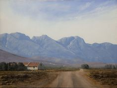 """Peter Bonney Artist South African karroo landscapes Image """"In The Shadow Of The Langeberg"""" Virtual Art, Old Paintings, Landscapes, Art Gallery, Mountains, Nature, Artist, Prints, Archive"""
