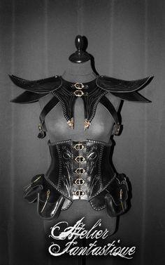 [Eyreliss armor] Corset + spaulders female armor.