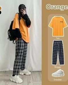 Korean Girl Fashion, Korean Fashion Trends, Ulzzang Fashion, Korean Street Fashion, Kpop Fashion Outfits, Tomboy Fashion, Mode Outfits, Korea Fashion, Muslim Fashion