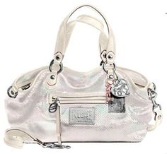 Coach Limited Edition Sequin Rocker Convertiable Shoulder Bag Tote 16339 Opal