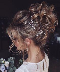 Bridal Hair Updo, Bridal Hair Vine, Headpiece Wedding, Bridal Tiara, Wedding Updo, Bridal Headpieces, Wedding Attire, Elegant Wedding, Wedding Dresses