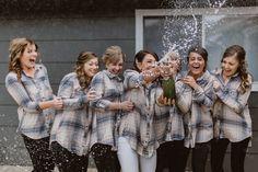 Flannel Shirts Bridesmaids