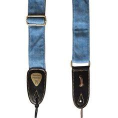 Blue guitar strap