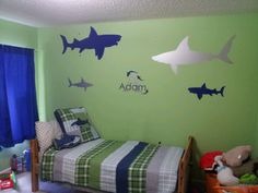 Kids shark bedroom