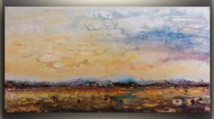 Abstract Painting Large Abstract Landscape by studiomosaic on Etsy