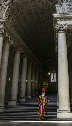 Swiss Guard at the Scala Regia
