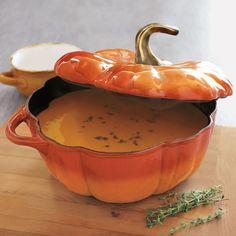 Perfect for thanksgiving!  Staub Pumpkin Cocotte, 3½ qt.   Sur La Table