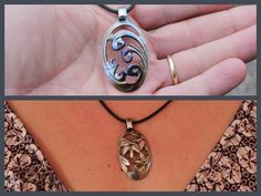 DIY pendant. Carving Necklace from teaspoon with Dremel rotary tool                                                                                                                                                                                 More