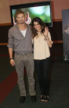 'Twilight' stars Kellan Lutz and Nikki Reed pose for photos while promoting the new movie in Dublin, Ireland on October 27, 2012.