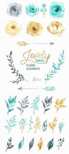 высечки цветы мятный золото