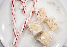 White Chocolate Peppermint Marshmallow Fudge