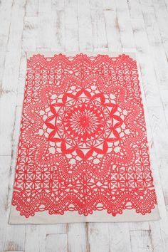 Love, love, love these doily rugs also available in black for a bit of granny boho chic £65 Urban Outfitters