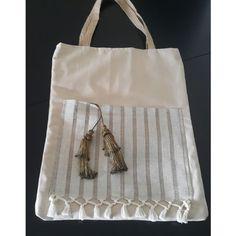 Peştemal Plaj Çantası Burlap, Reusable Tote Bags, Hessian Fabric, Jute, Canvas