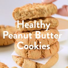 3 Ingredient Peanut Butter Cookies are the easiest cookie recipe that you will ever make and are gluten free. Soft, chewy, and simply the best peanut butter cookies! Keto Cookies, Gluten Free Peanut Butter Cookies, Classic Peanut Butter Cookies, Peanut Butter Recipes, Healthy Cookies, Healthy Sweets, Healthy Baking, Cookies Et Biscuits, Cheese Cookies