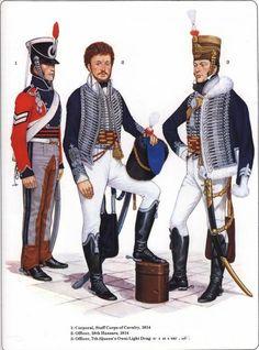 ussari e ufficiale del 7 rgt. British Army Uniform, British Uniforms, British Soldier, Commonwealth, British Armed Forces, Royal Marines, Napoleonic Wars, Empire, Military History