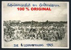 orig. WK2 FOTO - SCHUTZPOLIZEI HALB NACKT - SCHWIMMBAD BRANDENBURG / HAVEL 1929