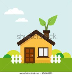 Ecologic concept illustration in vector.