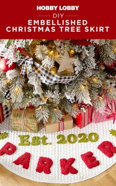 Add personal flair to your Christmas tree this year when you embellish a readymade tree skirt with needle punching!