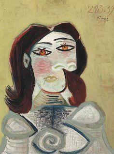 Pablo Picasso / Buste de femme / 1939 / oil on panel