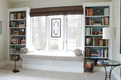 Cozy Window Bench with Book Shelf - DecorCraze.Com : DecorCraze.Com