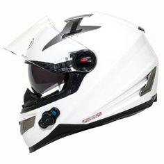 White Bilt Techno Bluetooth Helmet