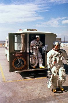 The Apollo 14 Astronauts walking to the launch pad before launch in January 1971