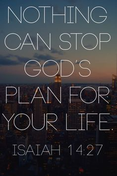 Nothing can stop God's plan for your life!
