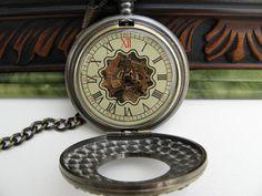 Captian's Pocket Watch Mechanical Bronze by ArtInspiredGifts, $44.00