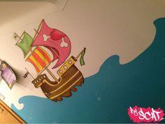 Fresque-Bateau Pirate-Creche Ile au Tresors-BySCAT