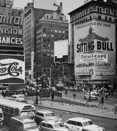 "charismatic33: "" Times Square, New York City, 1954. """