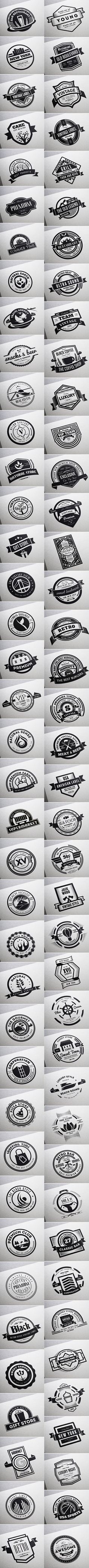 80 Retro Vintage Labels and Badges that you can use on Logos with emblem style, on beer labels, restaurants, coffee shops, bar and other places. Also you can use them on modern labels with a touch of Vintage style for your Website, Business, Stickers, T-s…