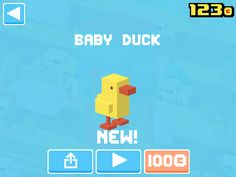 Just unlocked Baby Duck! #crossyroad