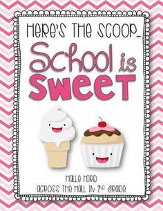 Here's the Scoop: School is Sweet {Craftivities and So Much More} Back to School Craftivities, Writing & Extension Sheets
