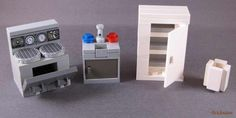 Family House Stove Sink, Frigerator, Trash can by Bricknave, via Flickr
