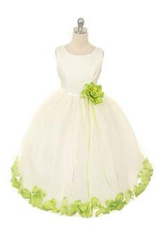 aqua blue and lime green flower girl dresses | Home » Lime Flower Petal Girl Dress