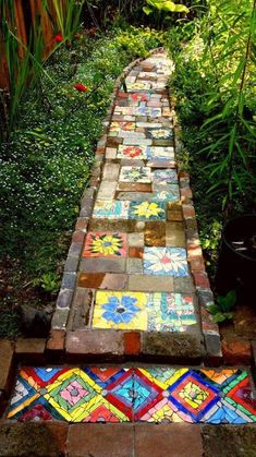 Outdoors Discover Very nice Mosaic garden path Mosaic Walkway Mosaic Stepping Stones Pebble Mosaic Mosaic Art Mosaic Glass Mosaic Garden Art Mosaics Mosaic Projects Garden Projects Mosaic Walkway, Mosaic Stepping Stones, Brick Walkway, Concrete Walkway, Garden Crafts, Garden Projects, Mosaic Art, Mosaic Glass, Pebble Mosaic