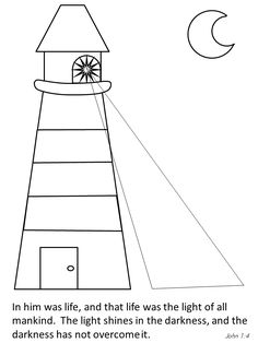 Jesus Color Lighthouse Bible Coloring Pages Book