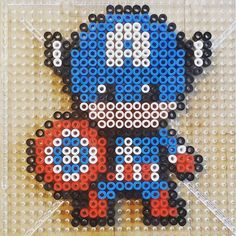 Captain America hama beads by frolich78