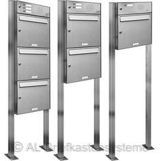 Edelstahl-Briefkasten-Standanlage-mit-Klingel-Taster