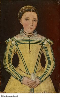 """Portrait of Dorothea Curio, Daughter of Professor Celio Secondo Curio"", Lucca (?). 1552"