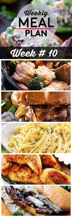cool Weekly Meal Plan Week 10 - Homemade Hooplah Budget Meal Planning, Cooking On A Budget, Budget Meals, Food Budget, Cheap Easy Healthy Meals, Easy Meals, Healthy Recipes, Cheap Recipes, Healthy Dinners