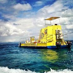 Yellow submarine! Glass bottom boat #Fiji #SouthSeaIsland #PrincessCruises #SeaPrincess #Travel #Cruise #Gypsy #Beautiful #Beach #Memories