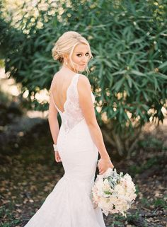#Bride #Gown #Liancarlo | @Jess Liu Burke | See the wedding on SMP - http://www.StyleMePretty.com/2014/01/07/rustic-chic-napa-valley-wedding-at-long-meadow-ranch/