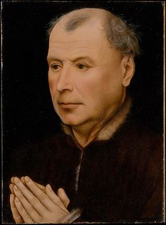 Man in Prayer / Un hombre orando // Workshop of Robert Campin // ca. // © The Metropolitan Museum of Art Jan Van Eyck, Robert Campin, Little Prayer, European Paintings, Chiaroscuro, Metropolitan Museum, Catholic, The Creator, 14th Century