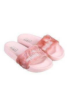 Puma x Fenty by Rihanna Leadcat Fur Slide Slipper Sandal Shell Pink Size 6.5