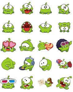 Cute the Rope Emoji Stickers, Free Stickers, Disney Drawings, Cute Drawings, Cut The Ropes, Kawaii Doodles, Mascot Design, Smileys, Emoticon